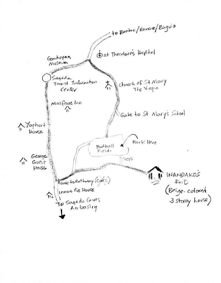 Inandakos Sagada Map